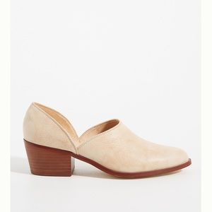 Anthropologie Abigail side cut ankle shooties